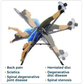 inversion table for back sciatica and disc pain