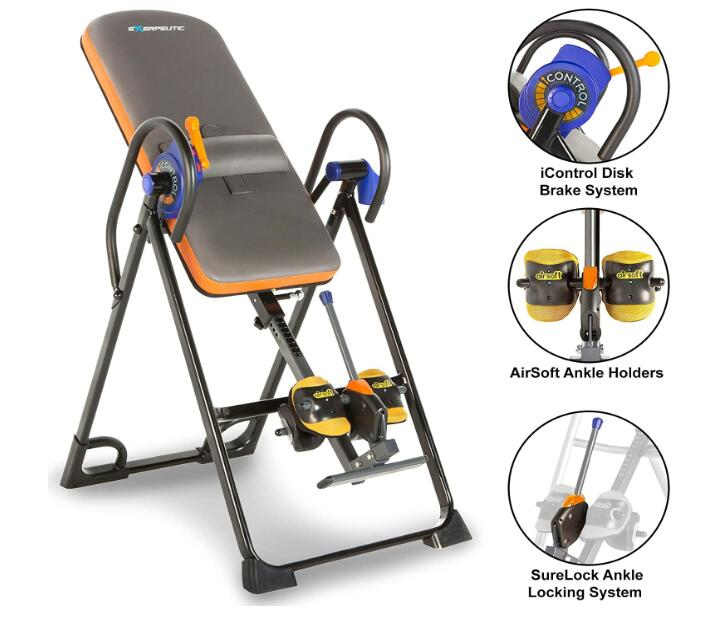 best exerpeutic inversion table with comfort foam backrest